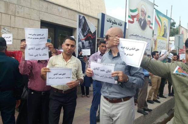 تجمع اعتراضی در آخرین روزهای حضور آیت الله نعیم آبادی در بندرعباس