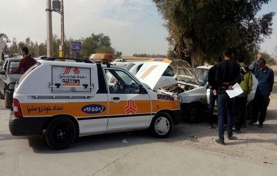 ارائه خدمات امدادی گروه خودروسازی سایپا به زائرین اربعین