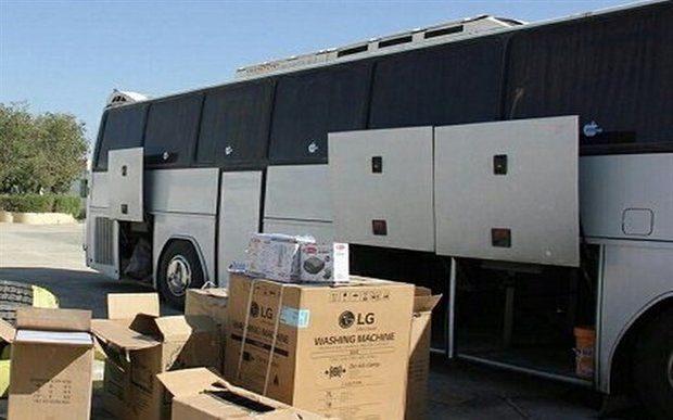 کشف کالای قاچاق از دو اتوبوس